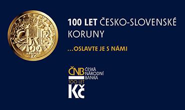 100 let československé koruny