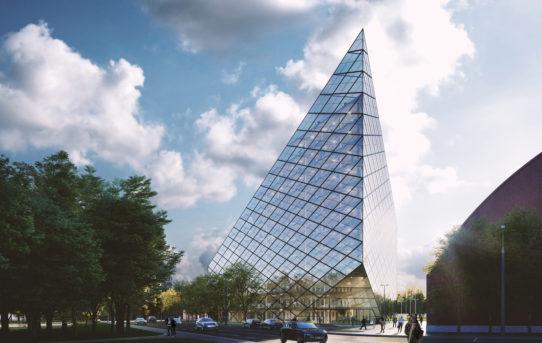 Projekt multifunkční budovy v Rize
