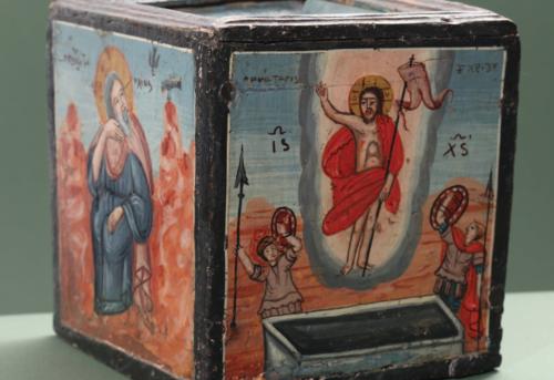Církevní předměty, rytiny a jiné objekty pravoslavného křesťanství