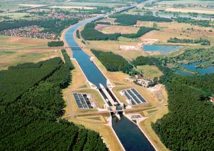 Středozemní průplav a průplavní most Magdeburk (Německo)