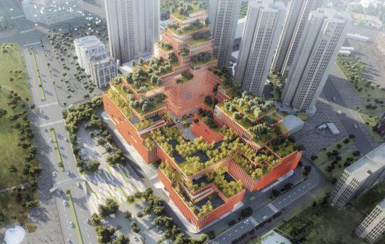V Číně vyroste rehabilitační centrum se střechou porostlou stromy