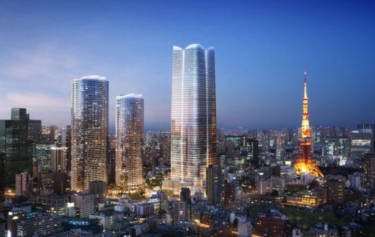 Pelli Clarke Pelli: 3 věže pro regeneraci centra Tokya