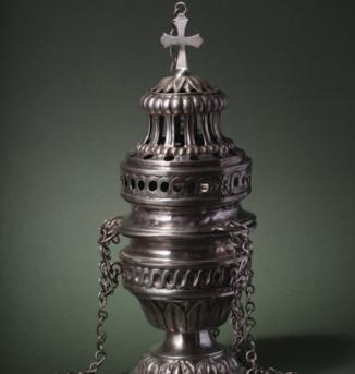Církevní náčiní spojené s kulturou a rituály pravoslavného křesťanství
