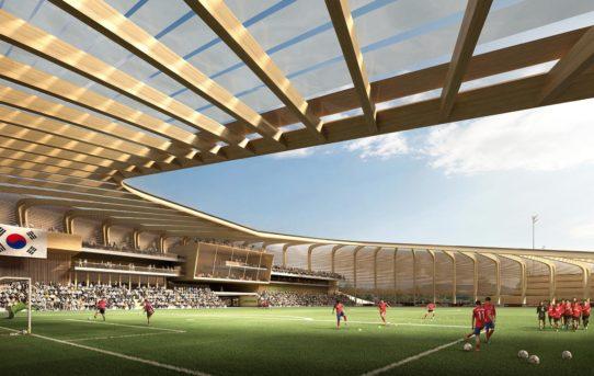 UNStudio postaví ze dřeva národní fotbalové centrum v Jižní Koreji